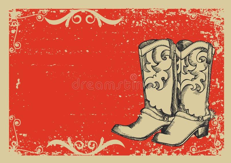 Gaines de cowboy illustration libre de droits