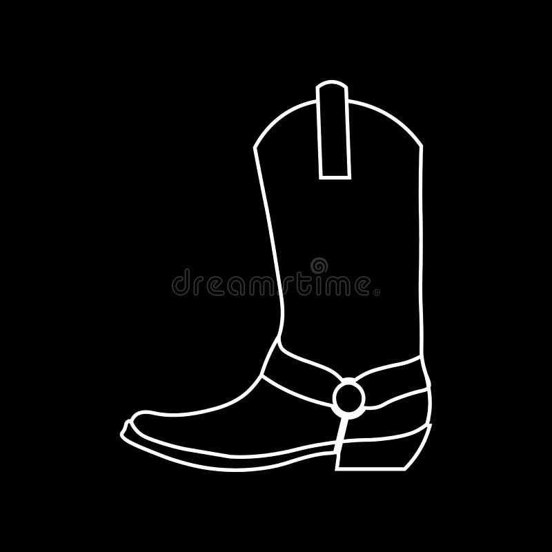 Gaines de cowboy Image de graphique de vecteur des chaussures pendant la vie de cowboy illustration de vecteur
