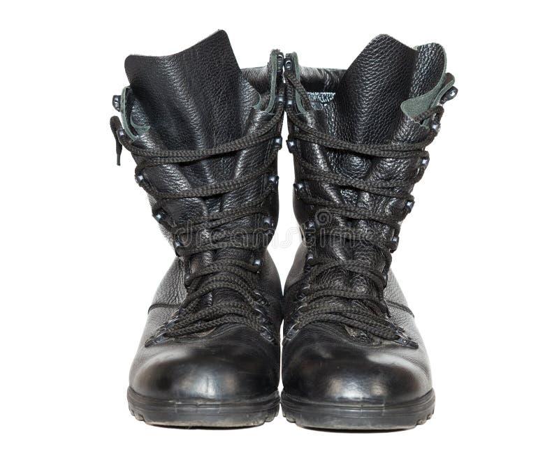 Gaines en cuir noires d'armée photographie stock libre de droits