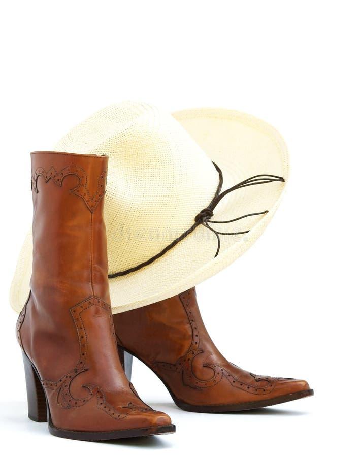 Gaines et chapeau de cow-girl images libres de droits