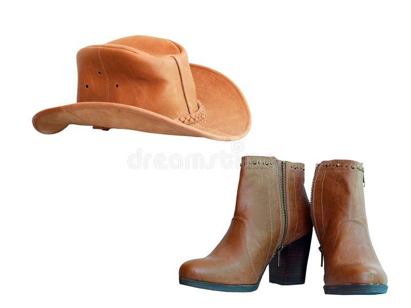 Gaines et chapeau de cowboy photo libre de droits