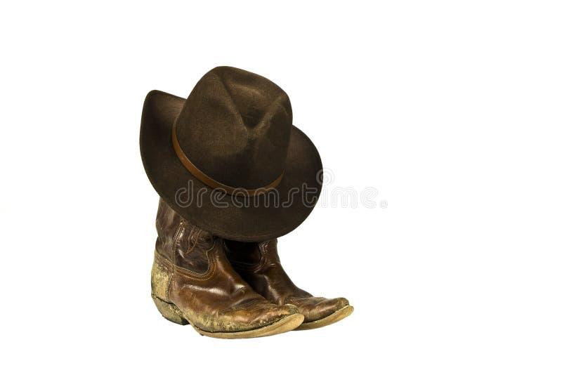 Gaines et chapeau de cowboy modifiées d'isolement photos libres de droits