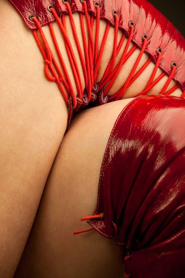 Gaines sexy de rouge de fétiche photo stock