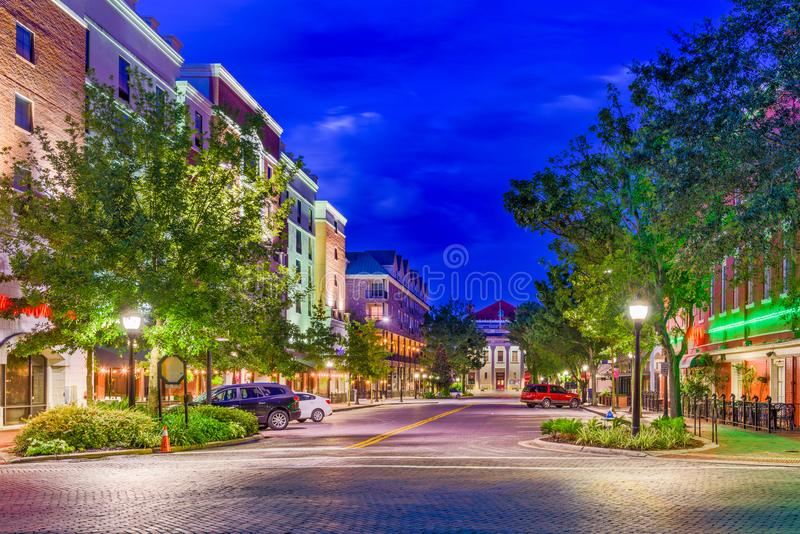 Gainesville, Florida, USA. Downtown at twilight royalty free stock images