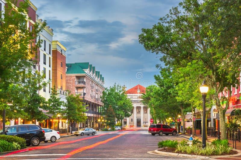 Gainesville, la Floride, Etats-Unis en centre ville images libres de droits