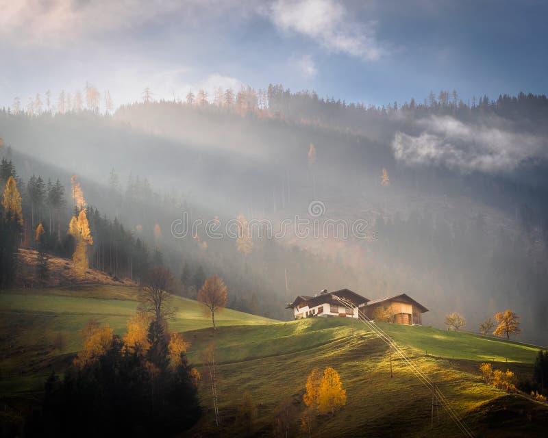 Gainfeld in Bischofshofen im Herbst lizenzfreie stockbilder