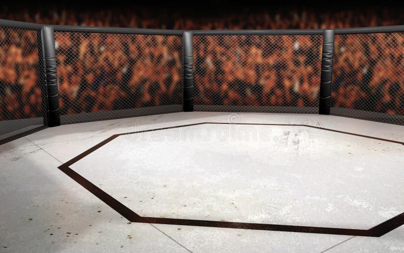 Gaiola de MMA ilustração stock
