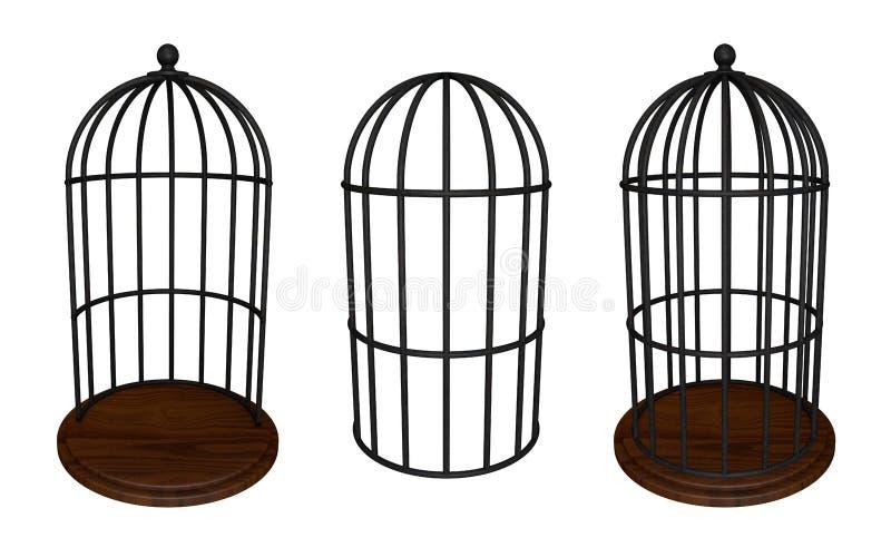Gaiola de pássaro ilustração stock