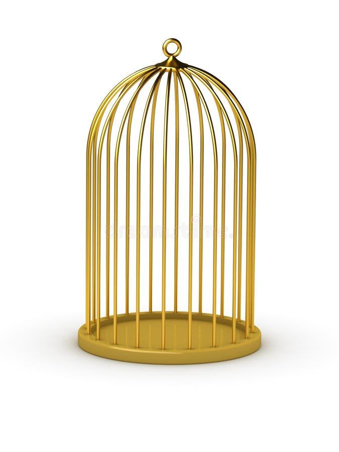 Gaiola do ouro ilustração stock
