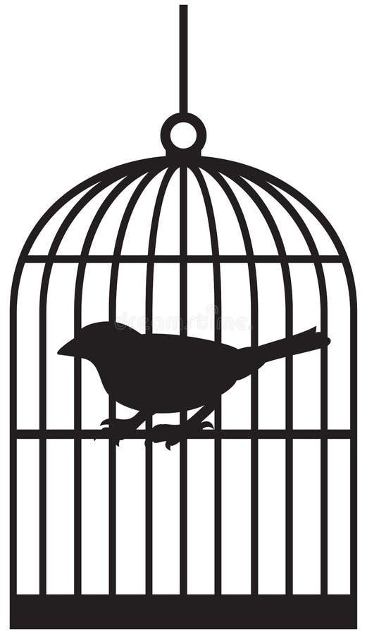 Gaiolas de pássaro ilustração royalty free