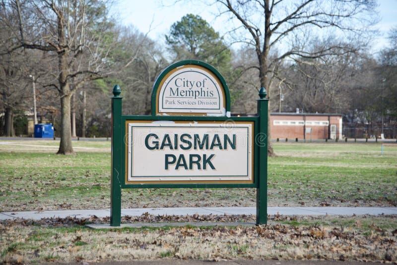 Gaisman park, miasto Memphis służba leśna zdjęcia stock