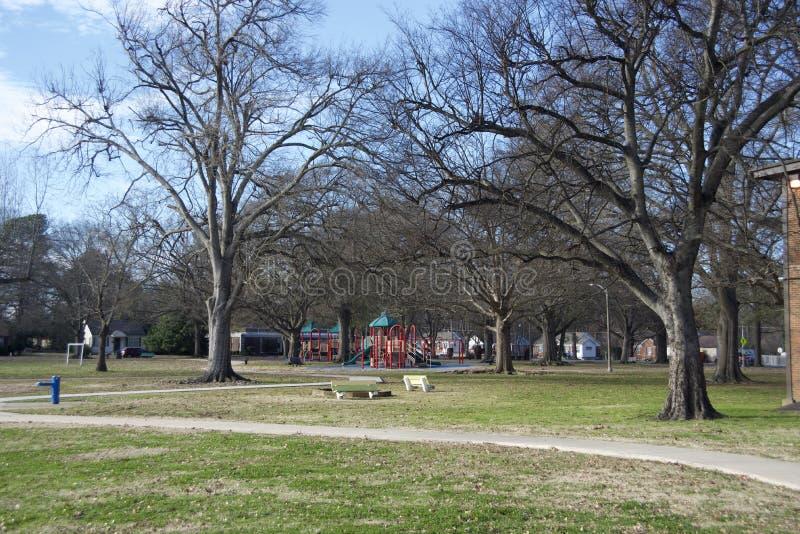 Gaisman parka boisko i odprowadzenie ślad, miasto Memphis służba leśna zdjęcia stock