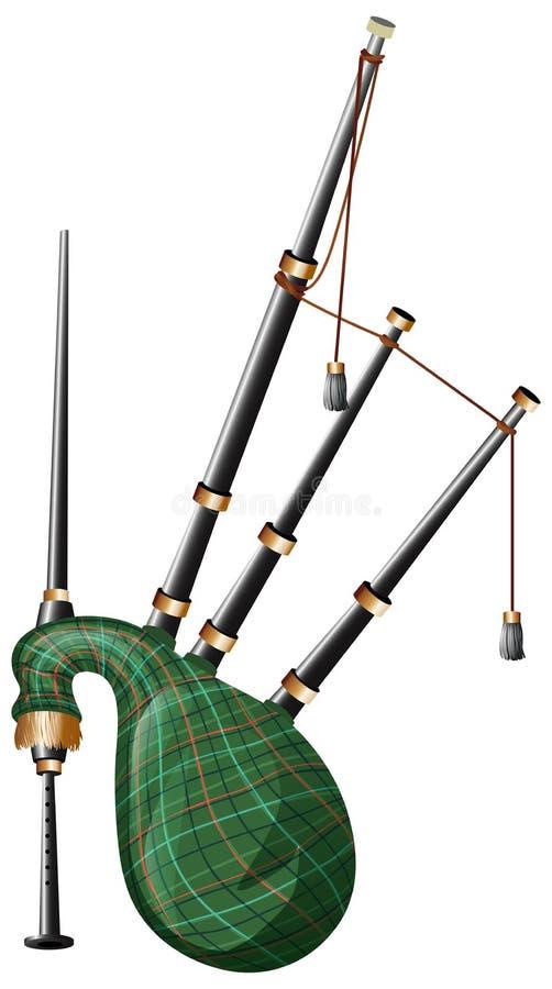 Gaita escocesa en el fondo blanco stock de ilustración