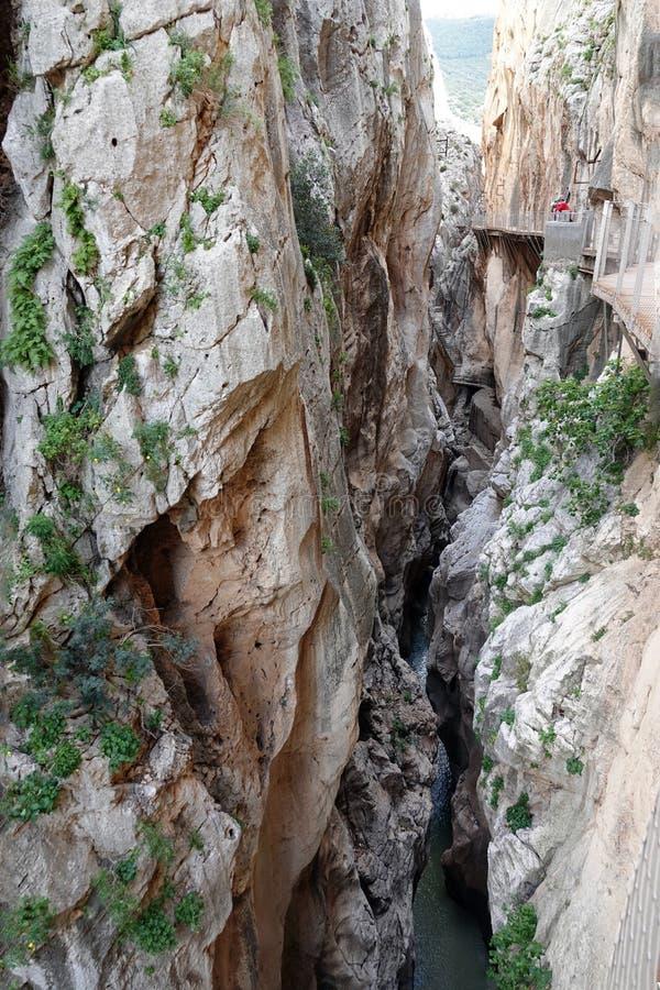 Gaitaneskloof in Caminito del Rey in Andalusia, Spanje royalty-vrije stock foto