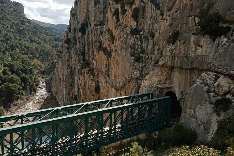 Gaitanesmuur van Caminito del Rey in Andalusia, Spanje royalty-vrije stock afbeeldingen