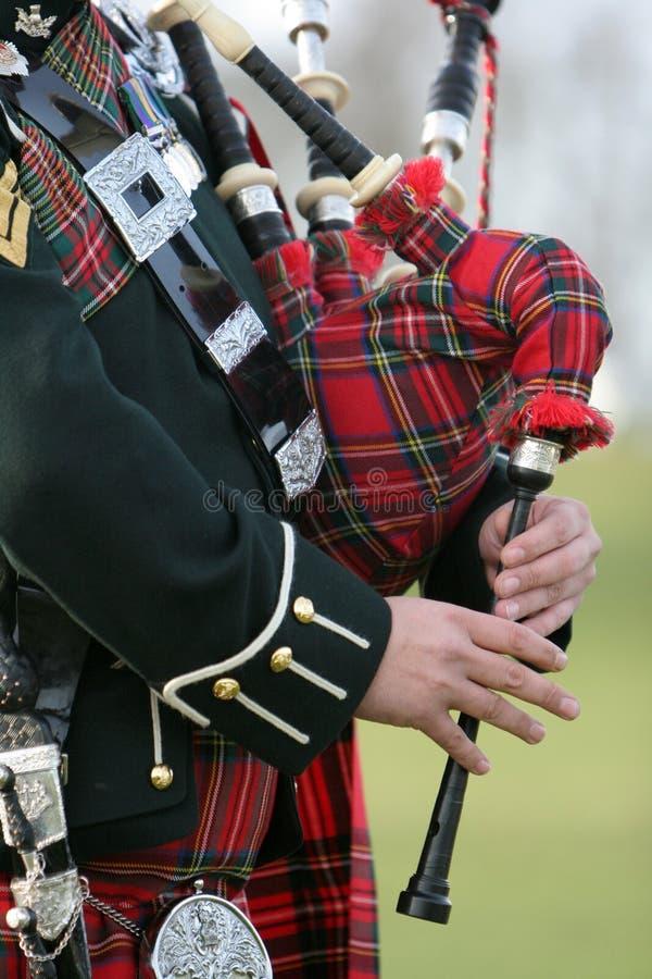 Gaitero escocés del bolso fotografía de archivo libre de regalías