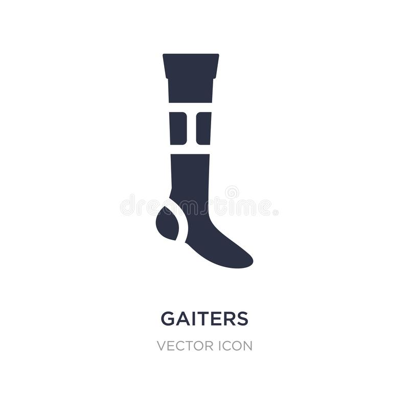 gaiters icon on white background. Simple element illustration from American football concept royalty free illustration