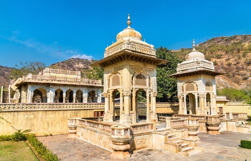 Gaitor real, un cenotafio en Jaipur - Rajasthán, la India fotos de archivo libres de regalías