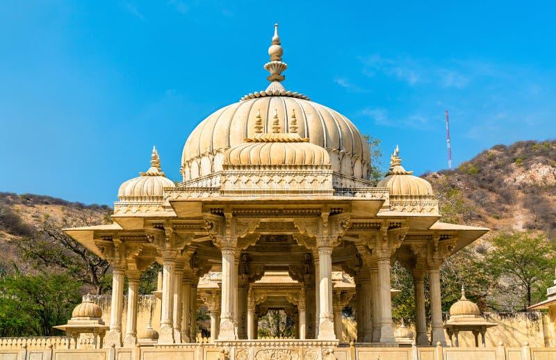 Gaitor real, un cenotafio en Jaipur - Rajasthán, la India imagen de archivo libre de regalías