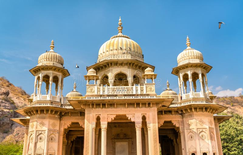 Gaitor real, un cenotafio en Jaipur - Rajasthán, la India foto de archivo