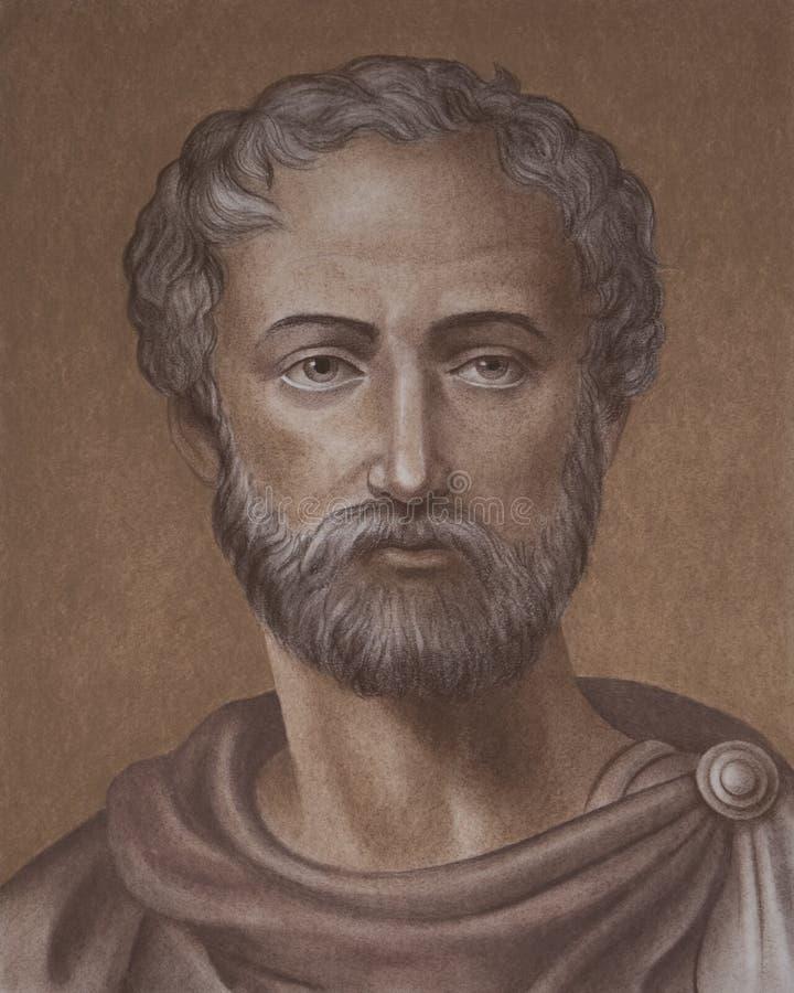 Gaius Plinius Secundus mieux connu comme Pline l'aîné illustration stock
