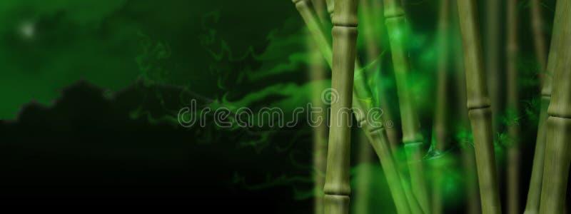 gaj bambusowa magia royalty ilustracja
