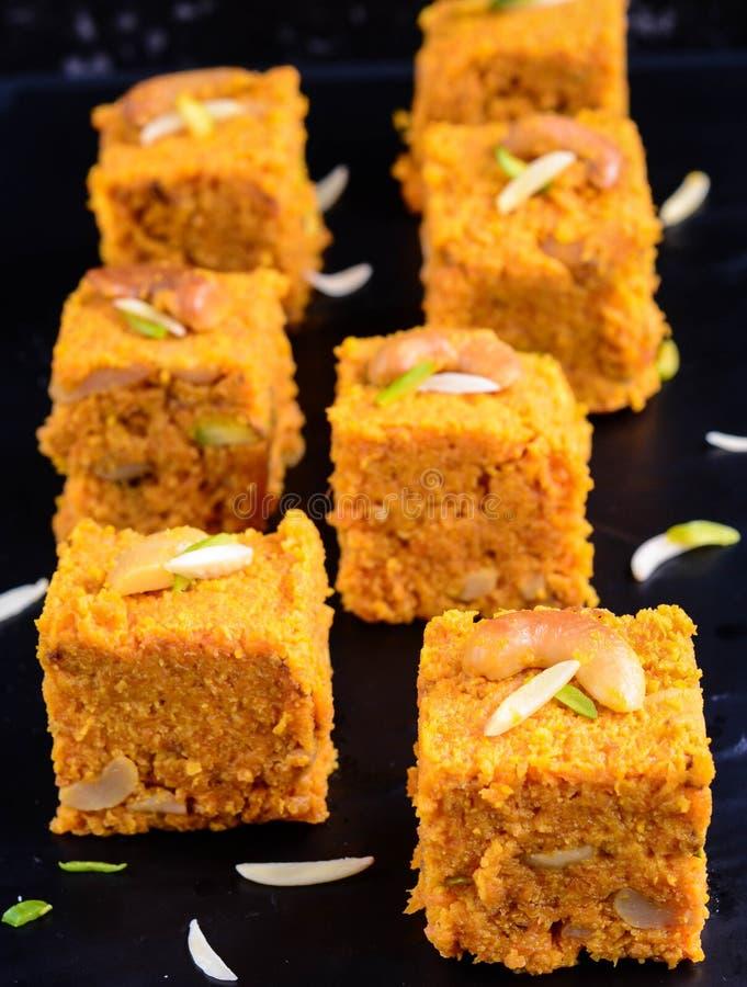 Gajar dulce indio Halwa foto de archivo