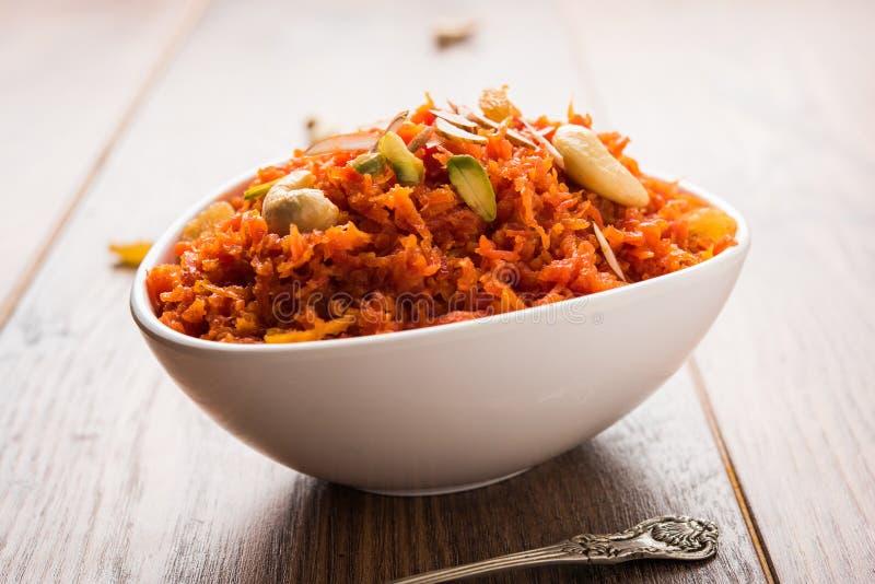 Gajar Halwa ή καρότο Halwa στοκ εικόνες