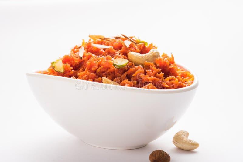 Gajar Halwa ή καρότο Halwa στοκ εικόνα