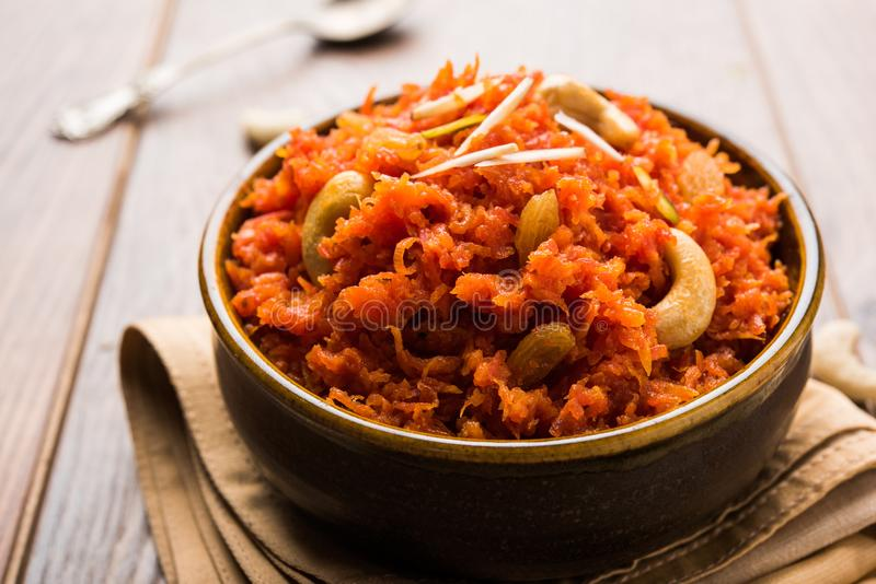 Gajar Halwa ή καρότο Halwa στοκ εικόνα με δικαίωμα ελεύθερης χρήσης