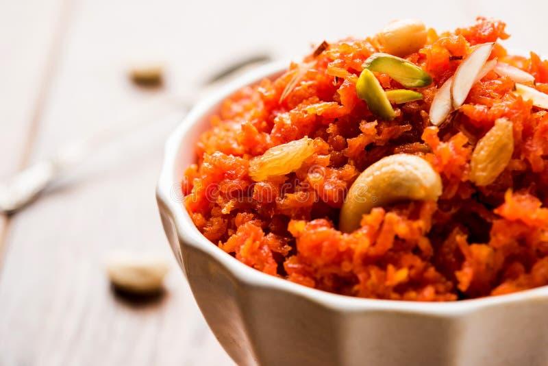 Gajar Halwa ή καρότο Halwa στοκ φωτογραφία