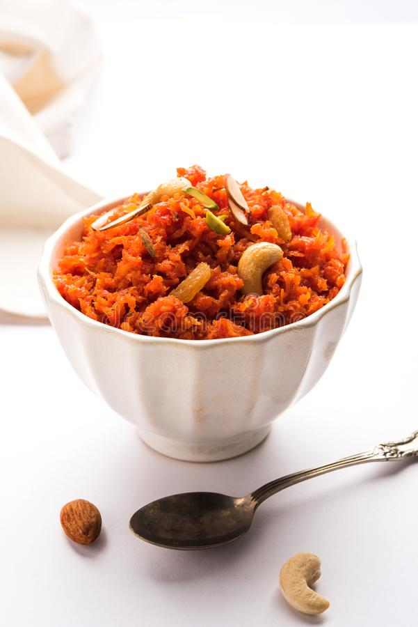 Gajar Halwa o carota Halwa immagine stock