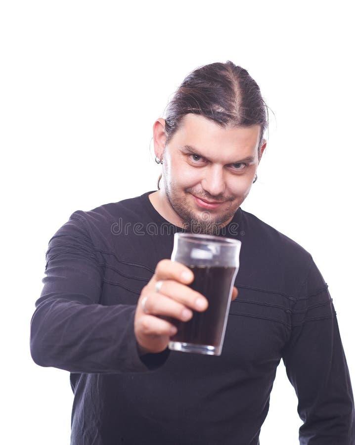 Gajo com tim-tim do vidro de cerveja fotografia de stock
