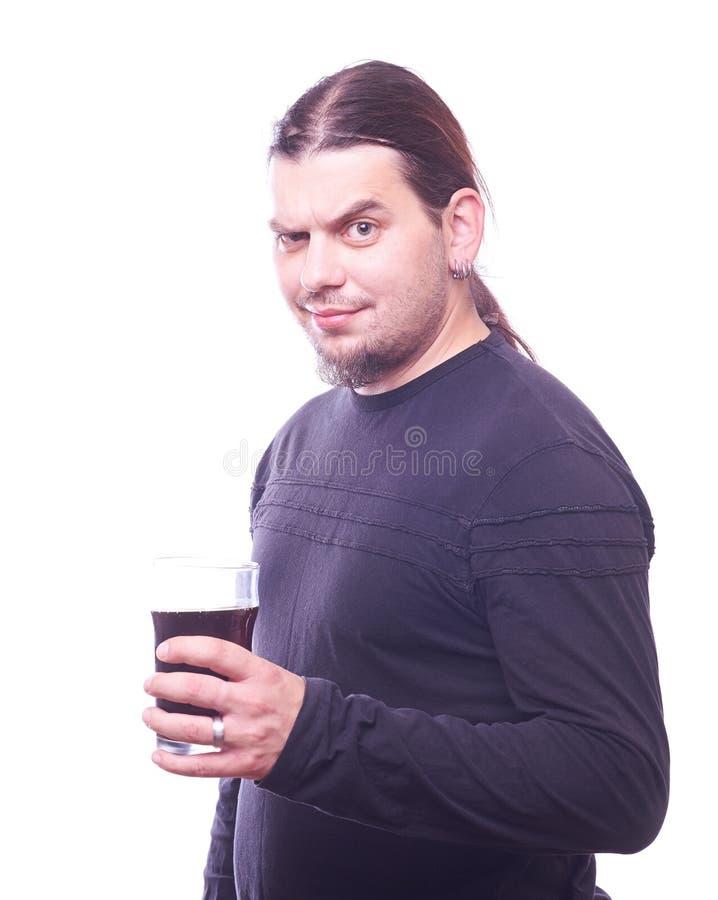 Gajo com vidro de cerveja imagem de stock royalty free