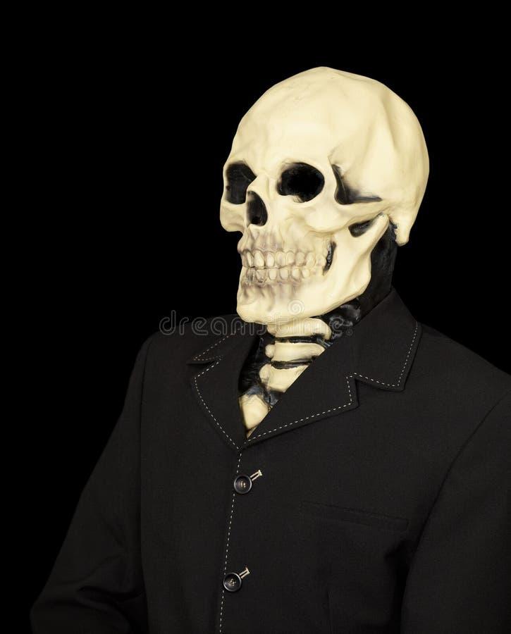 Gajo em um revestimento e em uma máscara - morte foto de stock royalty free