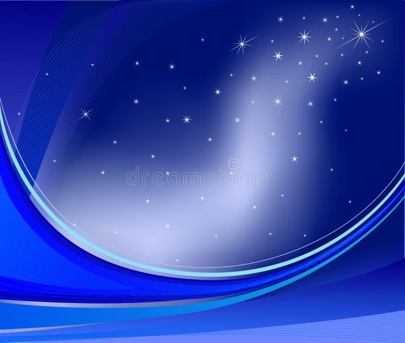 A galáxia abstrata acena o fundo ilustração royalty free