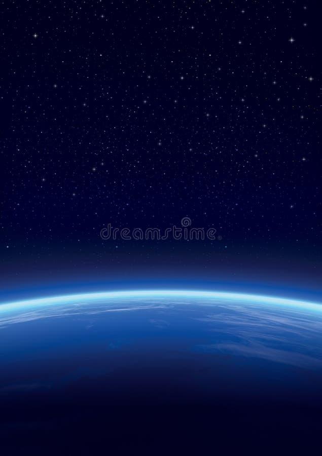 Galáxia com estrelas, fundo do horizonte ilustração do vetor