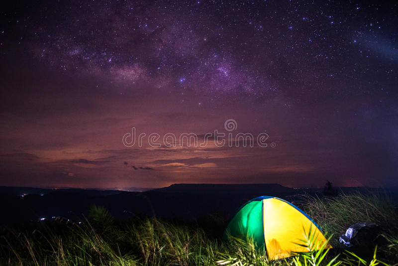 Galáxia da Via Látea fotografia de stock royalty free