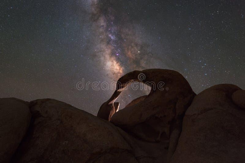 Galáxia da Via Látea do arco de Mobius fotos de stock royalty free