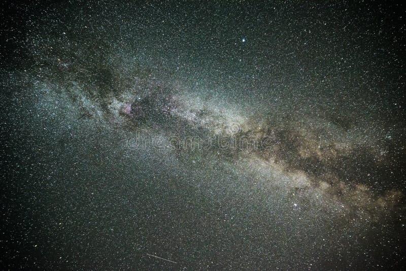 Galáxia da Via Látea em um céu estrelado foto de stock