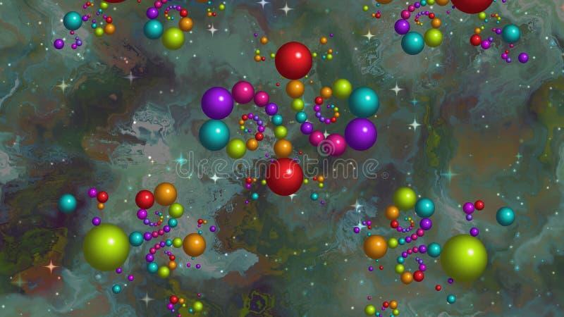Galáxia das esferas ilustração do vetor
