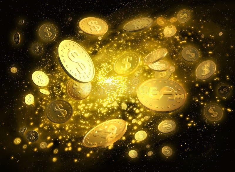 Galáxia do dinheiro ilustração royalty free
