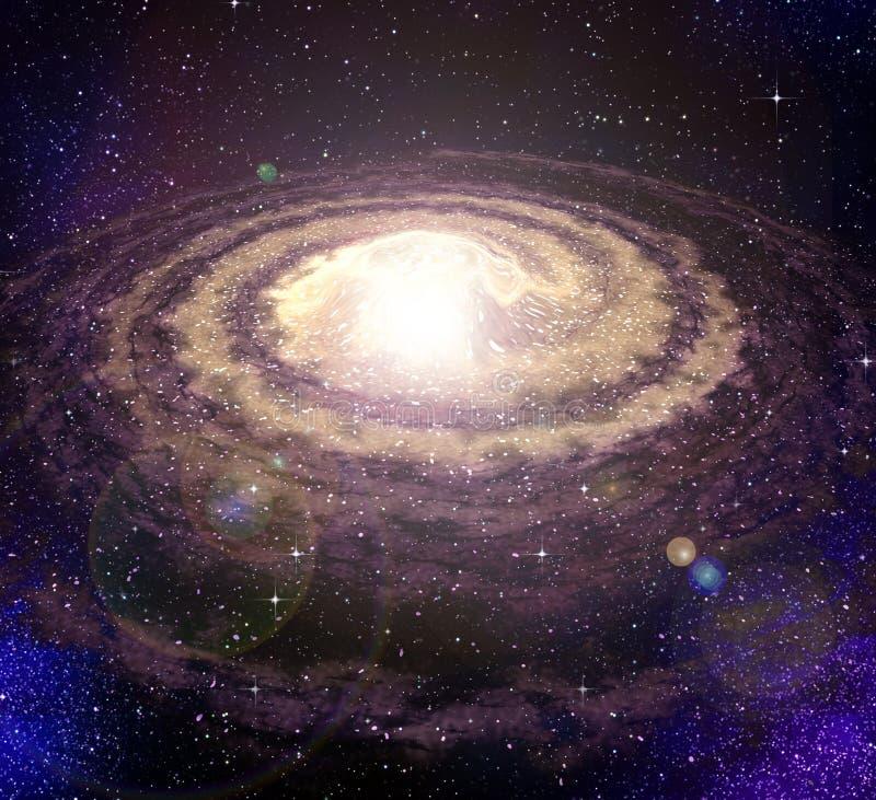 Galáxia do vortex espiral no espaço ilustração stock