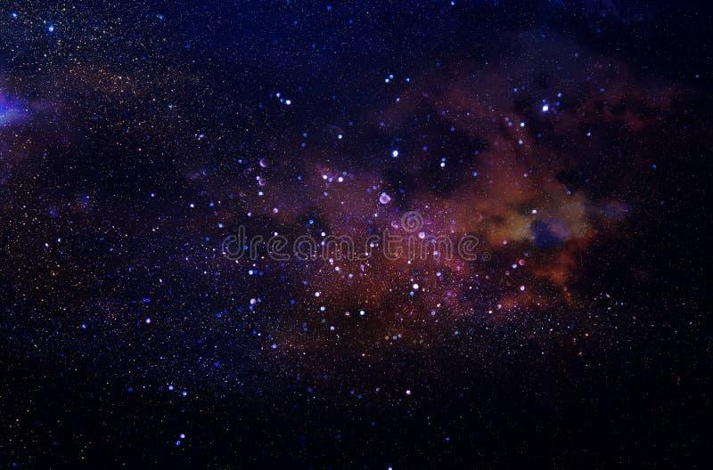 Galáxia e nebulosa Textura estrelado do fundo do espaço fotos de stock royalty free
