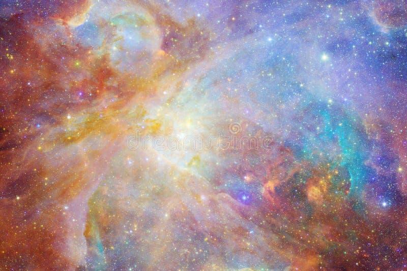 Galáxia em algum lugar no espaço Elementos desta imagem fornecidos pela NASA ilustração do vetor