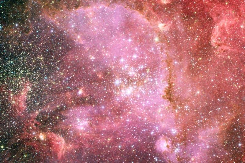 Galáxia em algum lugar no espaço profundo Beleza do universo foto de stock