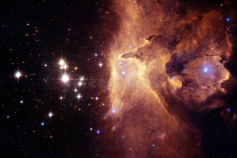 Galáxia em algum lugar no espaço profundo Beleza do universo ilustração stock