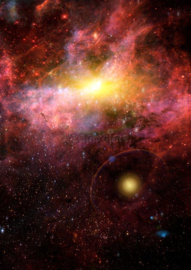 Galáxia em um espaço livre ilustração royalty free