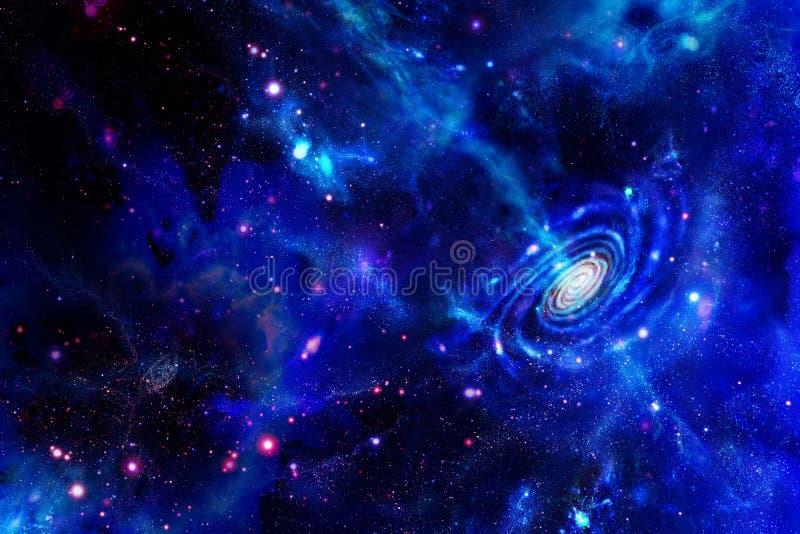 Galáxia-emitindo-se a substância e nuvens moleculars ilustração royalty free