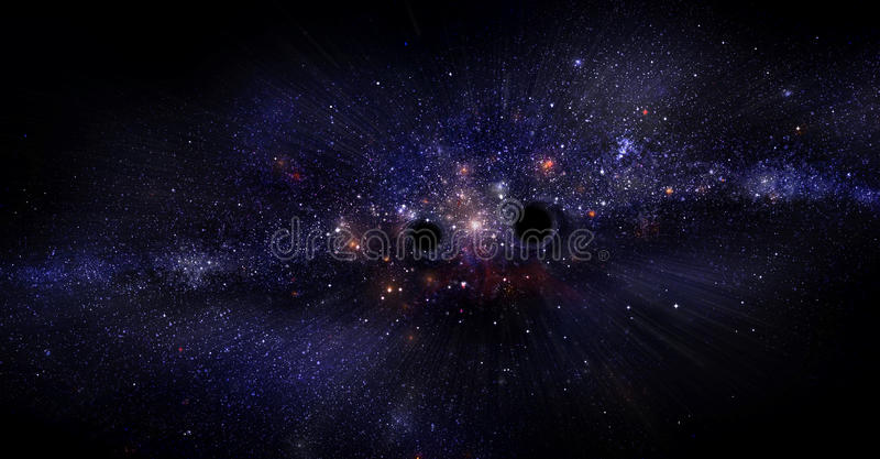 Download Galáxia com buracos negros ilustração stock. Ilustração de history - 29827459